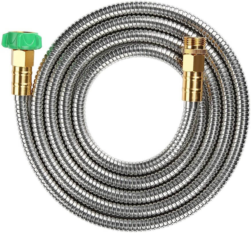 BEAULIFE 304 Stainless Steel Metal Garden Hose which is drinking water safe and also made of metal