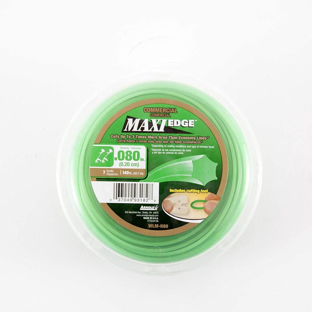 arnold maxi edge is one of the cheaper yet durable options you can find in terms of a .080 trimmer line